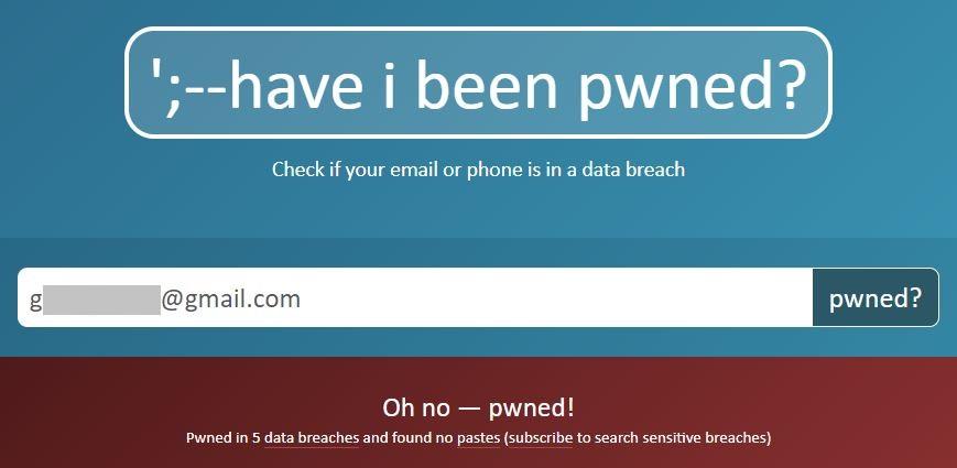 Have I Been Pwned te informează dacă mailul sau telefonul tău face parte din vreo breșă de securitate.