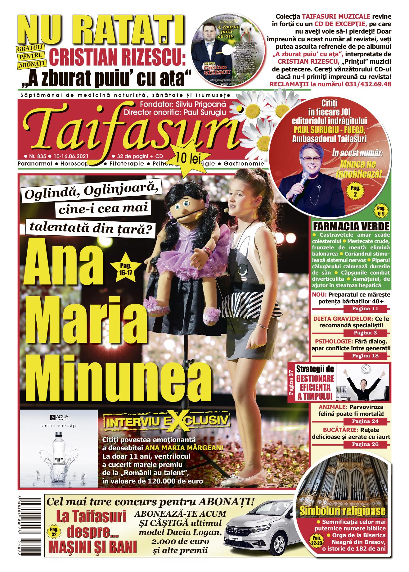 coperta revista Taifasuri 835