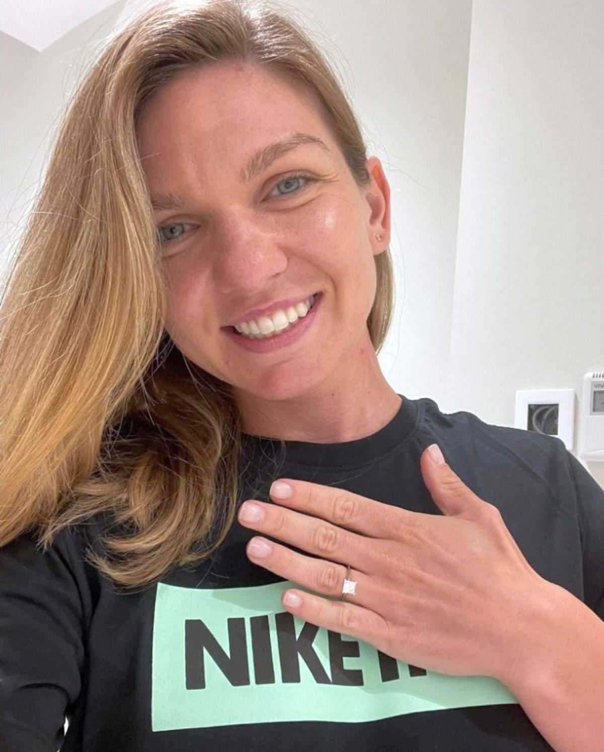 Simona Halep s-a pozat cu inelul de logodna. Sursa foto: prosport