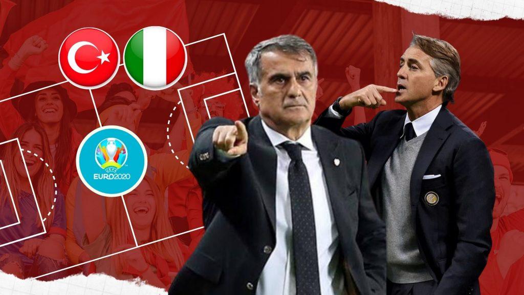 Turcia - Italia Euro 2020 cover Foto montaj Fanatik