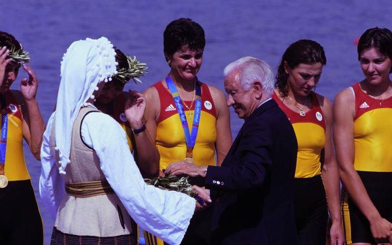 Elisabeta Lipă pe podiumul de la Atena