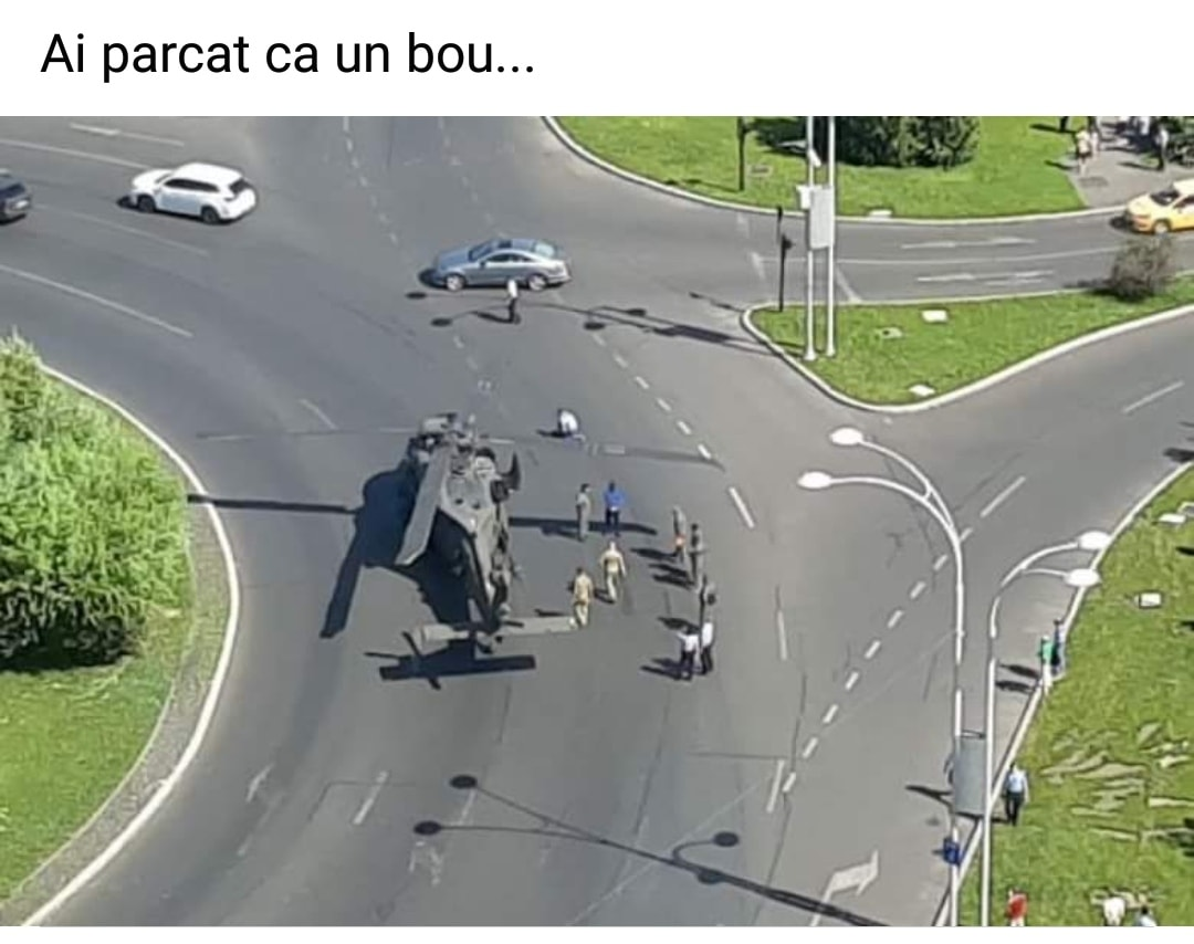 Sursa foto: Laurențiu Laurențiu, Ai parcat ca un bou, Facebook.