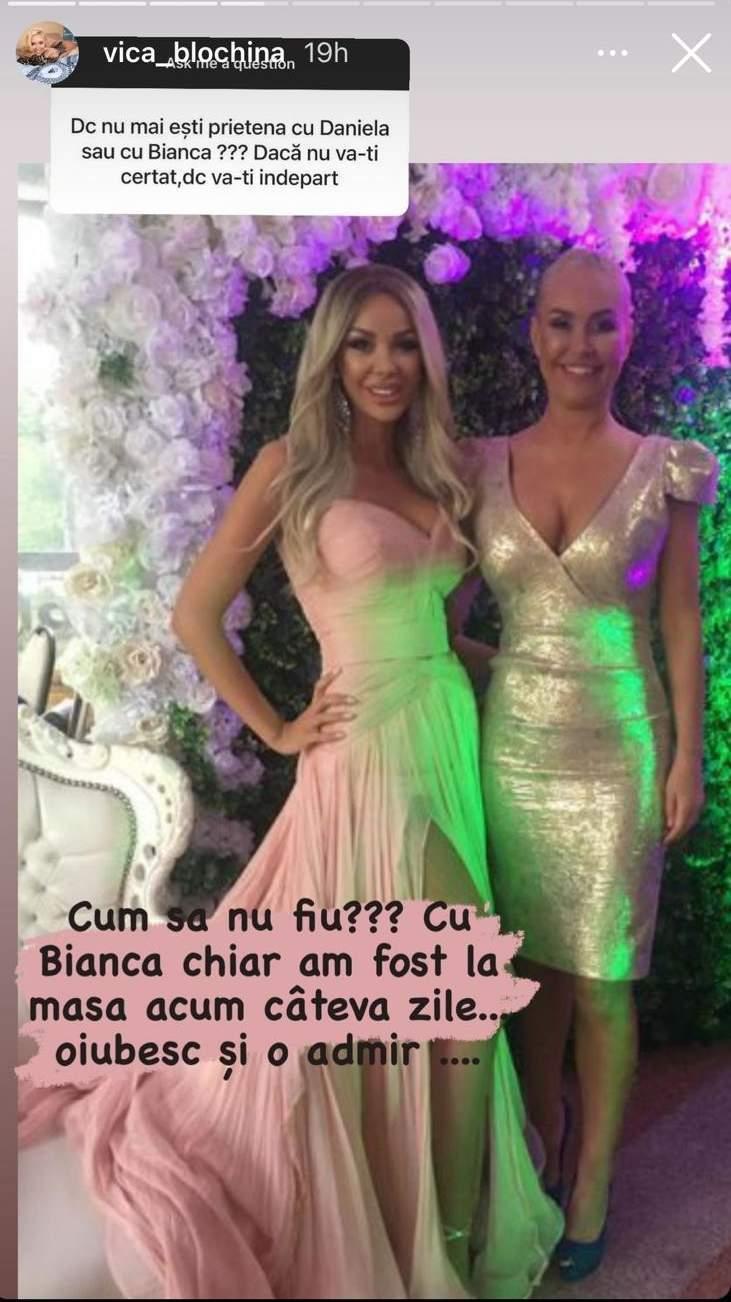 Vica Blochina, despre cearta cu Bianca Drăgușanu