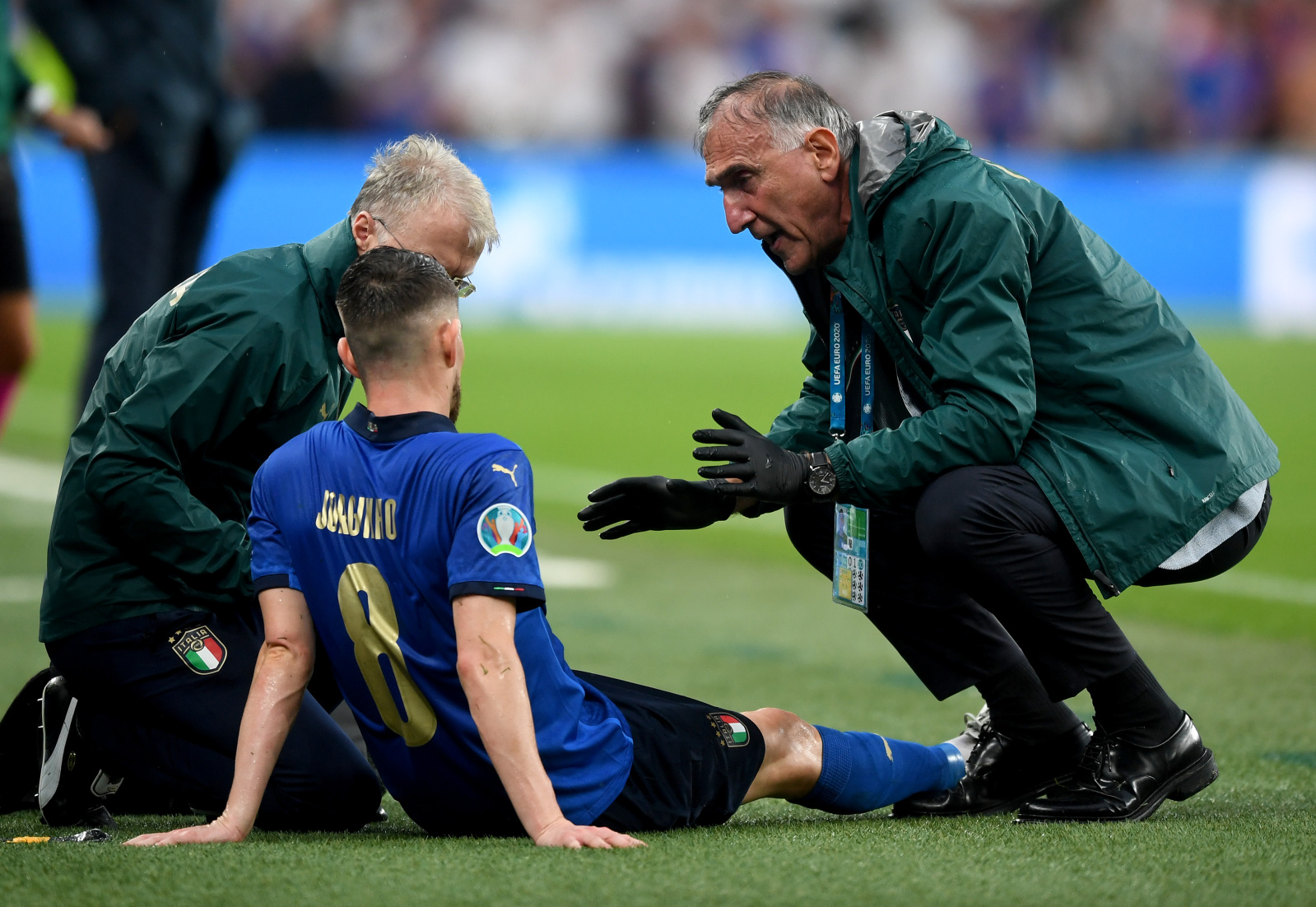 Accidentarea lui Jorginho. Sursa: Uefa.com