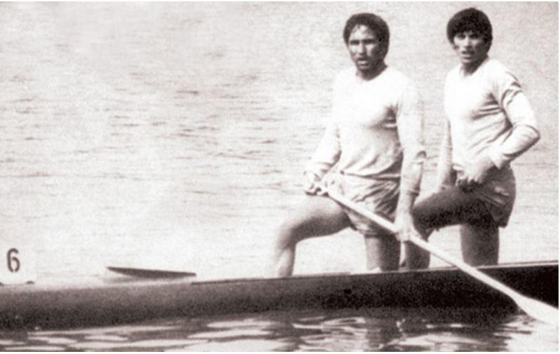 Ivan Patzaichin şi Serghei Covaliov la Mexcio City, în 1968