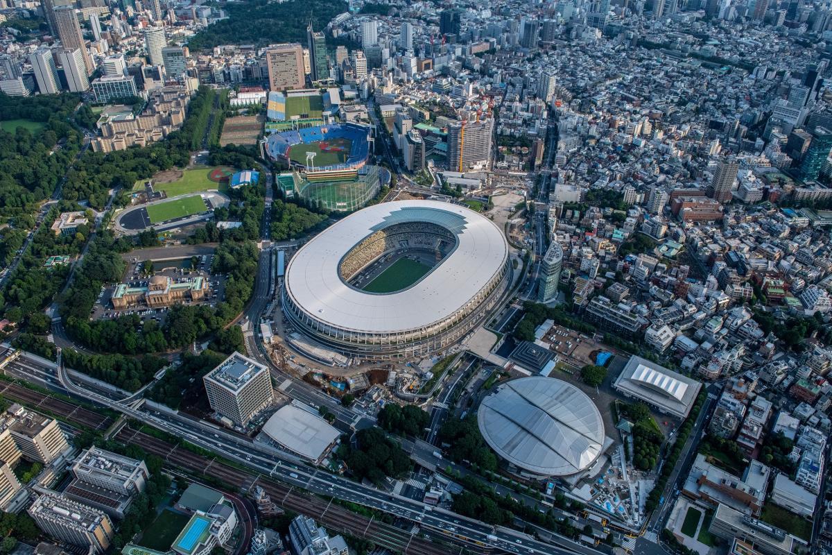 Vedere deasupra stadionului olimpic din Tokyo