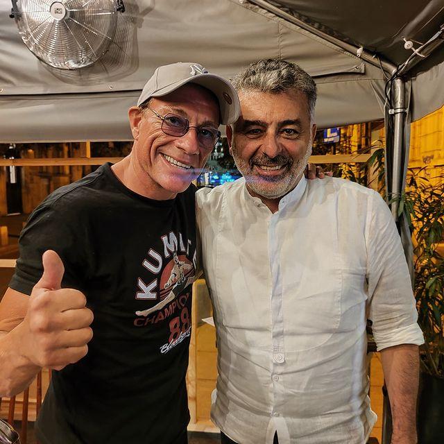 Van Damme împreună cu Joseph Hadad
