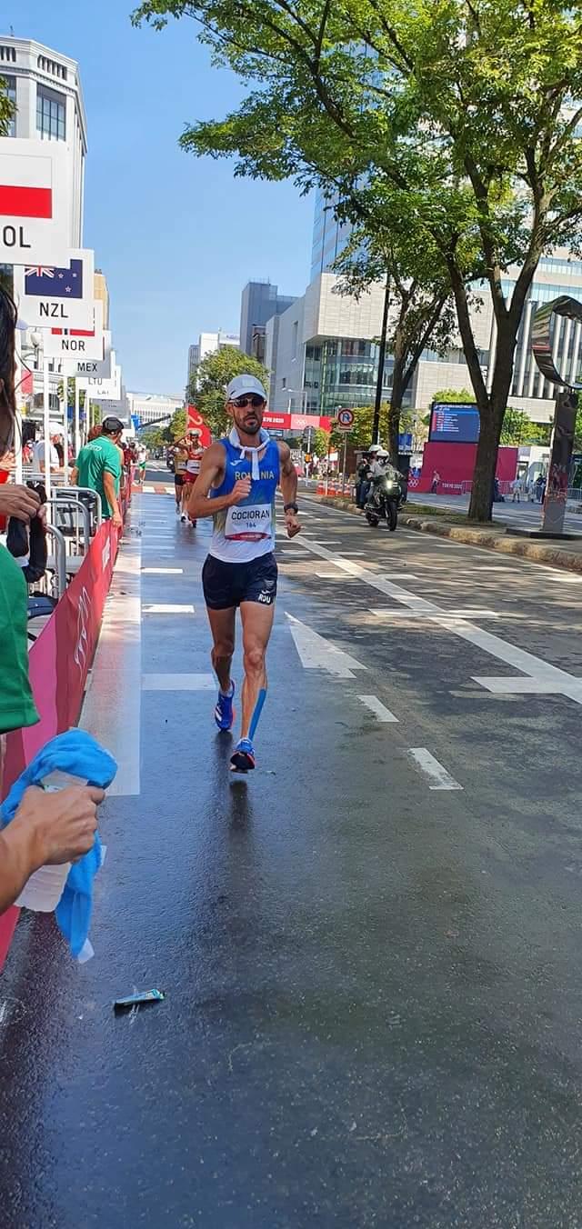 Marius Cocioran încheie pe locul 24 în proba de 50 de kilometri marș!