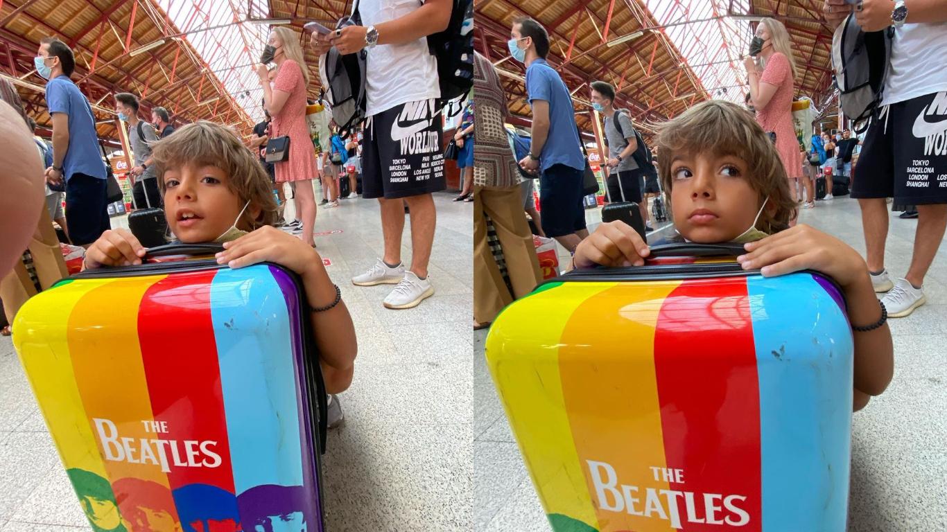 Toma, băiatul lui Horia Brenciu, în Gara de Nord