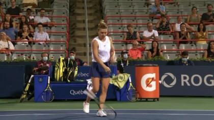 """""""Degeaba te uiți!"""" Simona Halep, crize de nervi la WTA Montreal. Ce a..."""